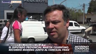 El Diputado Provincial Martín Cosentino Recorrió Moreno Junto Al Concejal Martín Fraiz