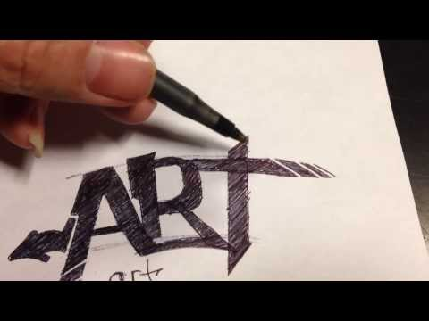 Learn to draw Simple Graffiti (Tutorial)