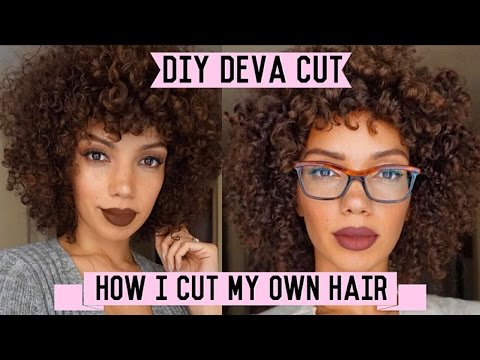 How To Cut Curly Hair At Home ( DIY Deva Cut  ) : Healthy Hair Journey Pt. 3