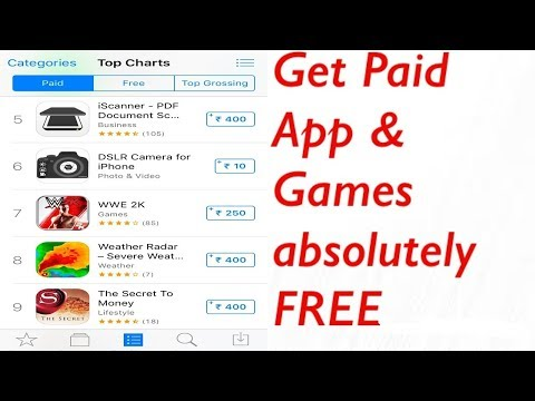 How to get Paid apps/games for free on iPhone in Hindi ( No Jailbreak ) (No Computer)