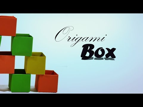 Easy Origami Box - How to Make Paper Box Tutorial  For Beginners & Kids? ♦ DIY ♦ Paper Work