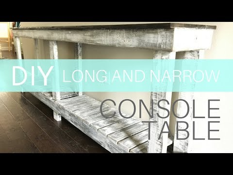 How to Build a Long and Narrow Farmhouse Console Table | $30 Lumber