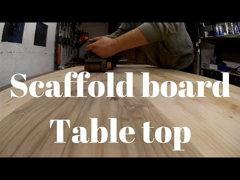 Upcycle reclamined scaffold board table top