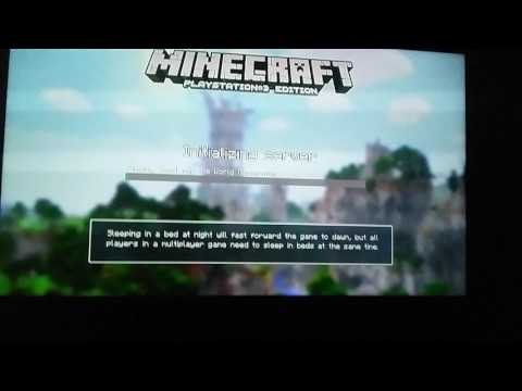 How to play minecraft two players in ps3 no HDTV