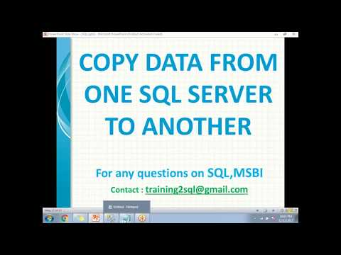 Copy Data from One SQL Server to another