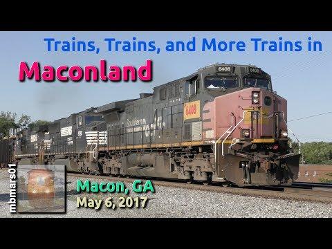 [51] Trains, Trains, and More Trains in Maconland, Railfanning Macon, GA, 05/06/2017 ©mbmars01