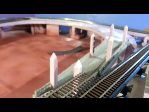 #12 HO train layout, building concrete piers