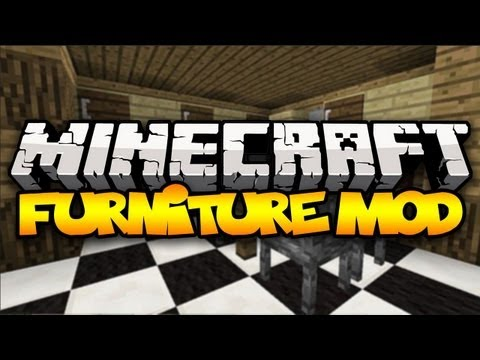 Minecraft: FURNITURE MOD! (Chairs, Tables, Ovens & MORE!) | Mod Showcase (1.8)