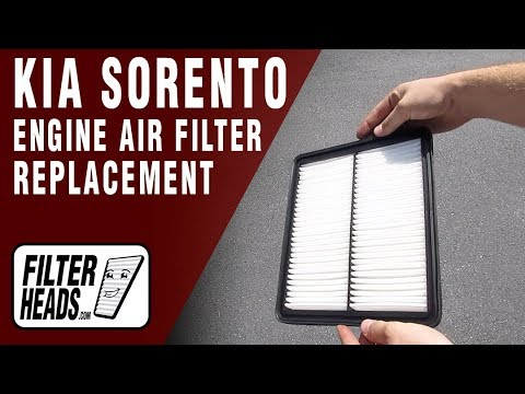 How to Replace Engine Air Filter 2013 Kia Sorento L4 2.4L