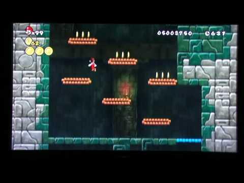 Super Mario Bros Wii - World 4-Tower Secret Exit 480P
