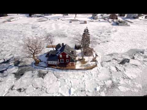 Oak Point - Zitka Island in winter shot in 4K video
