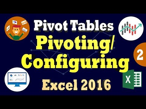 Excel 2016 Pivot Tables - Creating Pivoting and Configuring Recommended Pivot Tables - Part 2