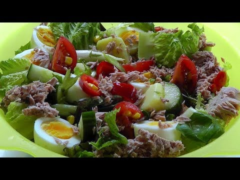 Healthy food TUNA SALAD how to make a tasty simple recipe