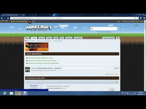 How to Install Modloader for Minecraft 1.4.7 [Windows8]