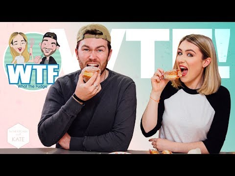 WTF?! Dough-nut lick your lips challenge! - In The Kitchen With Kate