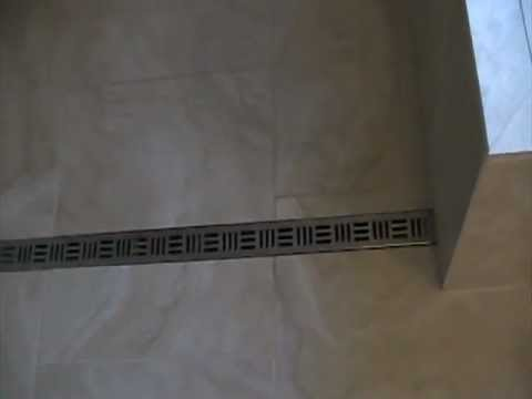 Curbless Shower with Noble Free Style Linear Drain