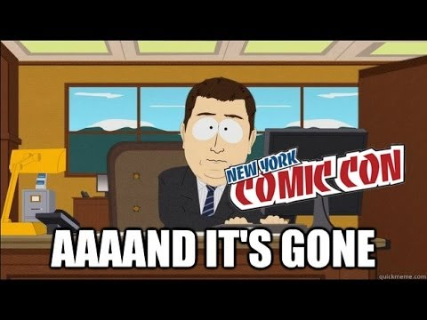 NYCC 2014 VIP/4 Day Passes Gone!?