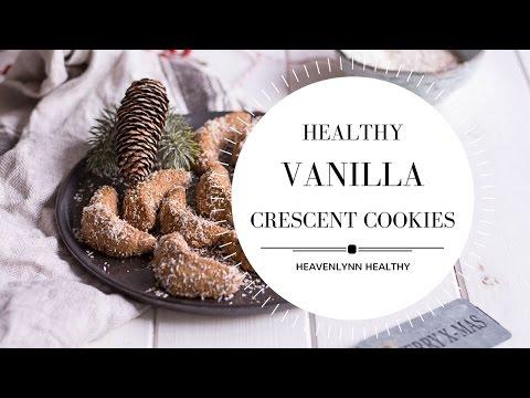 Healthy Vanilla Crescent Cookies | Heavenlynn Healthy
