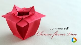 How To Make Origami Chinese Flower Vase
