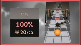 Rolling Sky - City (Level 6) All Gems + Widescreen