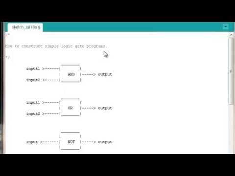Arduino Programming Tutorials || Introduction || Simple Logic Gate Programs #0