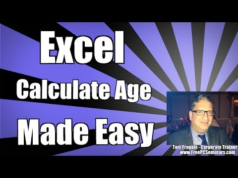 How to calculate years in excel and how to calculate age in Excel Tutorial 2010 2013 2016