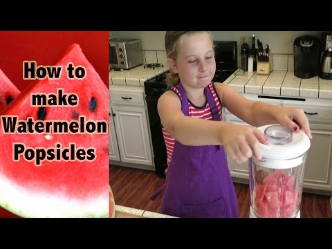 How to make watermelon popsicles - Kids can cook!