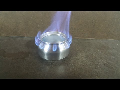 One Can Alcohol Stove Using a Template and Jigs