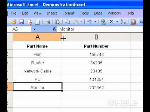 Microsoft Office Excel 2003 Set a column width on a righttoleft worksheet