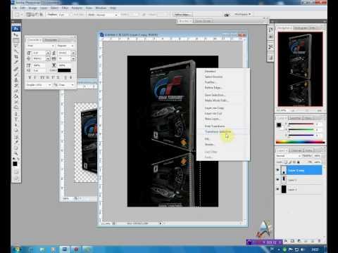 How to make reflection  in Photoshop CS3/ Ako spraviť odlesk pri 3D objektoch