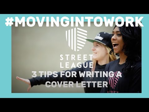 Top 3 tips for writing a cover letter!