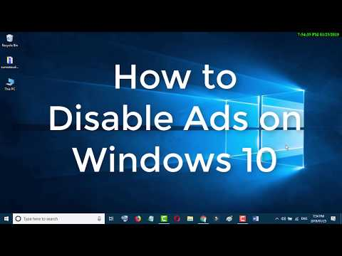 How to Disable Ads on Windows 10