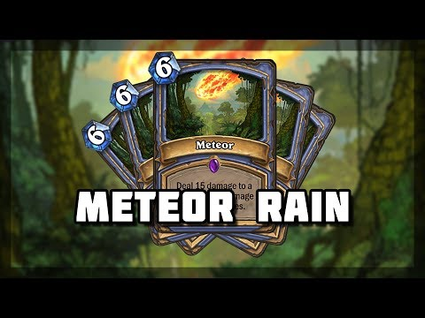 Hearthstone - Most Meteors I've seen in a Game