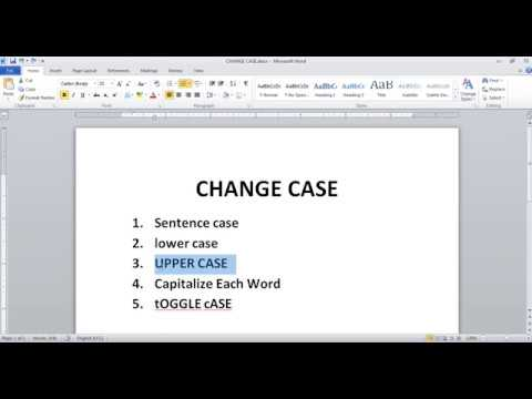 Change Case of Microsoft Word in Hindi Language