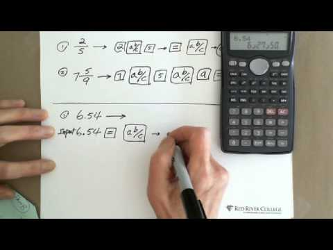 Scientific Calculator: Conversion between Fraction & Decimal