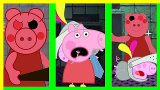 PIGGY VS PEPPA VS GEORGE  BEST ANIMATION COMPILATION #1