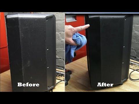 Plastic PA Speaker Scratch Repair With a Heat Gun? Let's Try It