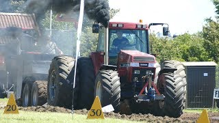 Case IH 7120 Magnum Pulling The Sledge at Pulling Event in Hjørring | Tractor Pulling Denmark