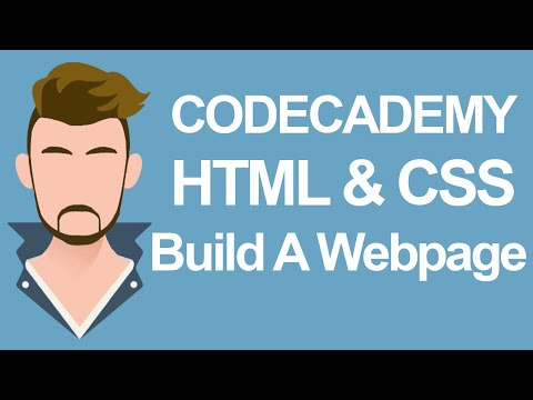 Codecademy HTML & CSS Build your own Webpage