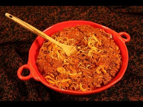 Vickie's Crockpot Spaghetti