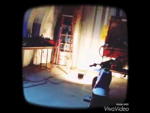 Cutting a man door in a garage!