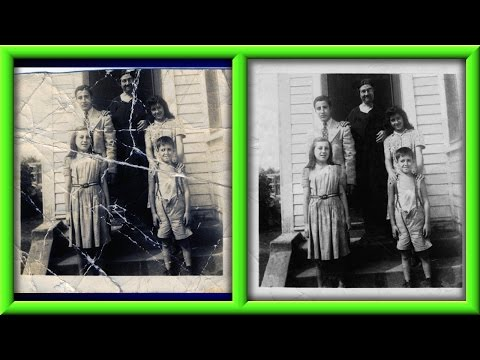 How To Fix An Old Or Damaged Photo Using Gimp Part 1