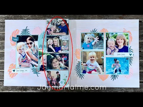 Easy Scrapbooking - How to Add More Photos to Postcard Perfect Kit Layouts 1&3   Process Video