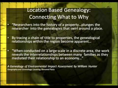 Breaking Down Brick Walls with Location Based Genealogy (Part 1 of 3)
