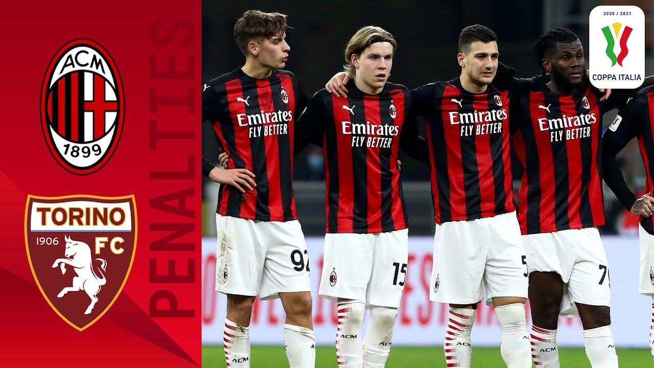 Milan 0-0 (5-4) Torino - Full Penalty Shoot-out | Coppa Italia 2020/2021