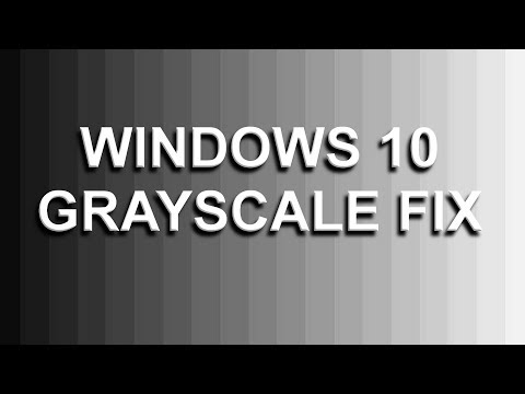 How to fix Grayscale or Monochrome display on Windows 10