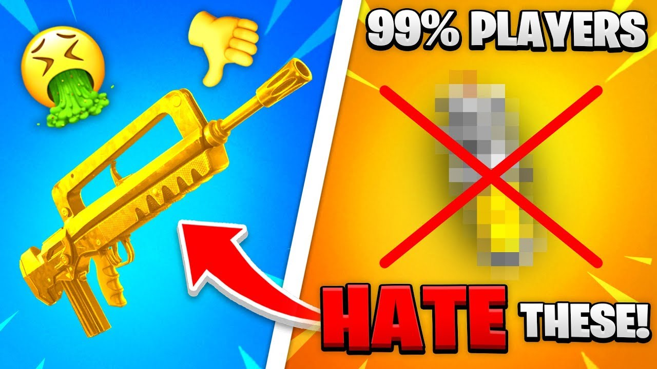 Top 10 WORST Guns ALL FORTNITE PLAYERS HATE!