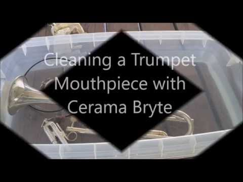 Cleaning a Trumpet Mouthpiece with Cerama Bryte
