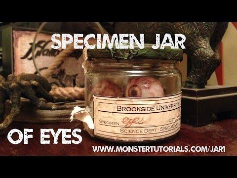 www.monstertutorials.com - Vintage Specimen Jar Of Eyeballs Tutorial