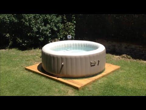 DIY Pallet Deck for portable SPA